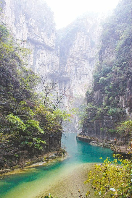 是壶关著名的旅游风景区,由青龙峡,红豆峡,八泉峡,黑龙潭等组成.