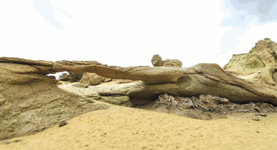 图为位于青海省海西蒙古族藏族自治州红崖地区的模拟火星基地.