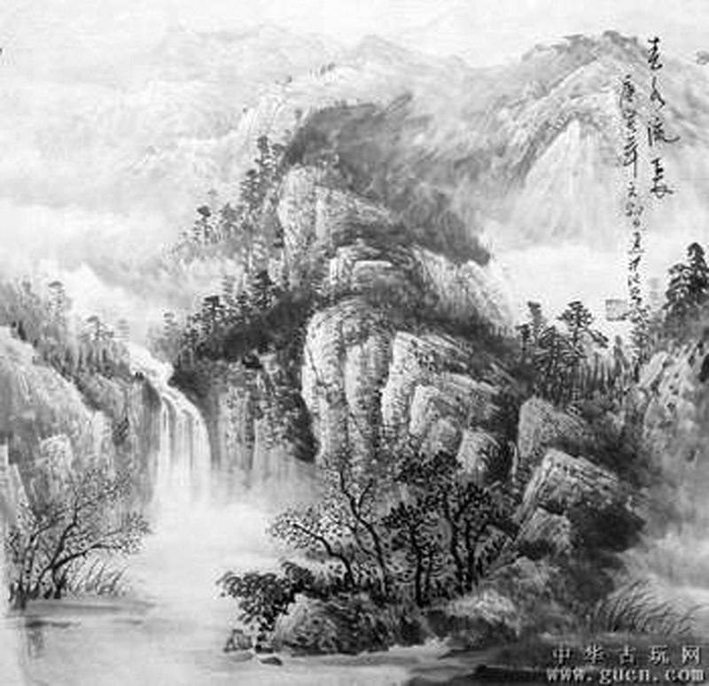 铅笔画画树木