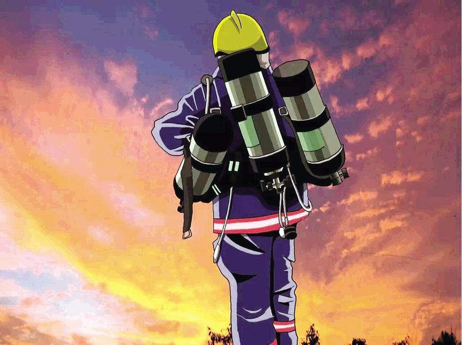 王源:手绘漫画,记录消防那些事儿