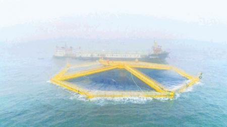 """我国首座深海渔场""""深蓝1号""""在日照启用"""